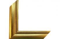 Moldura com acabamento dourado 0003