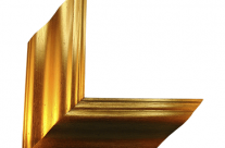 Moldura com acabamento dourado 0013