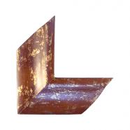 Moldura com acabamento dourado e madeira 0017